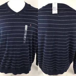NWT Men's Size 2XL Tommy Hilfiger V-Neck Sweater